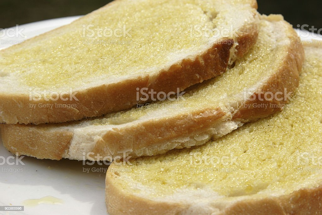 olive oil on bread royalty-free stock photo