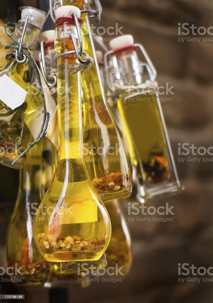 Olive oils from italia stock photo