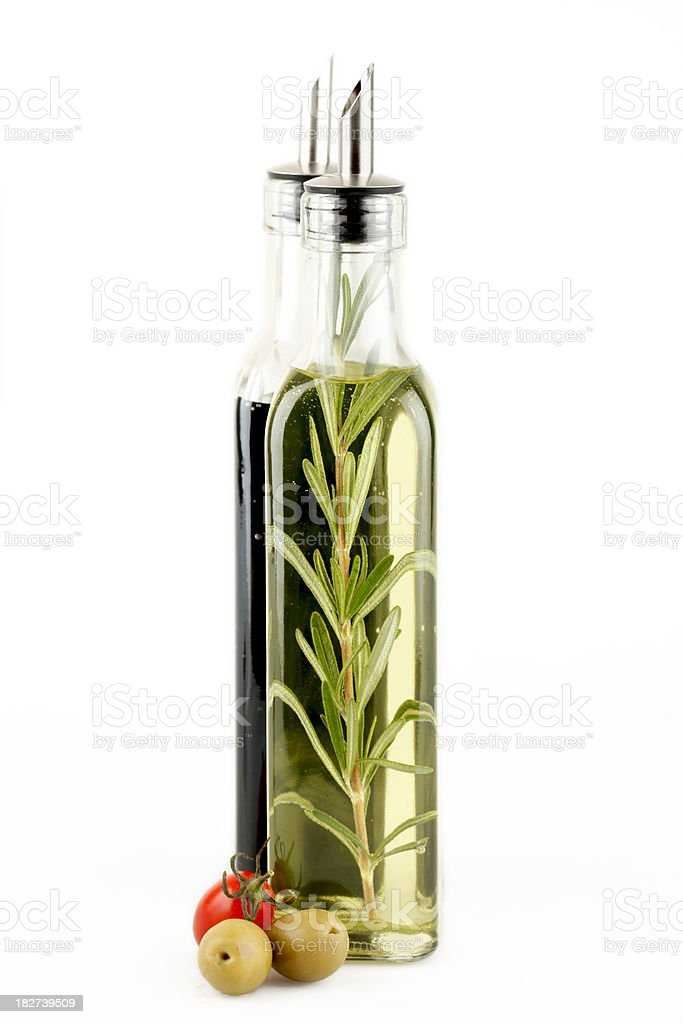 Olive Oli & Balsamic vinegar royalty-free stock photo