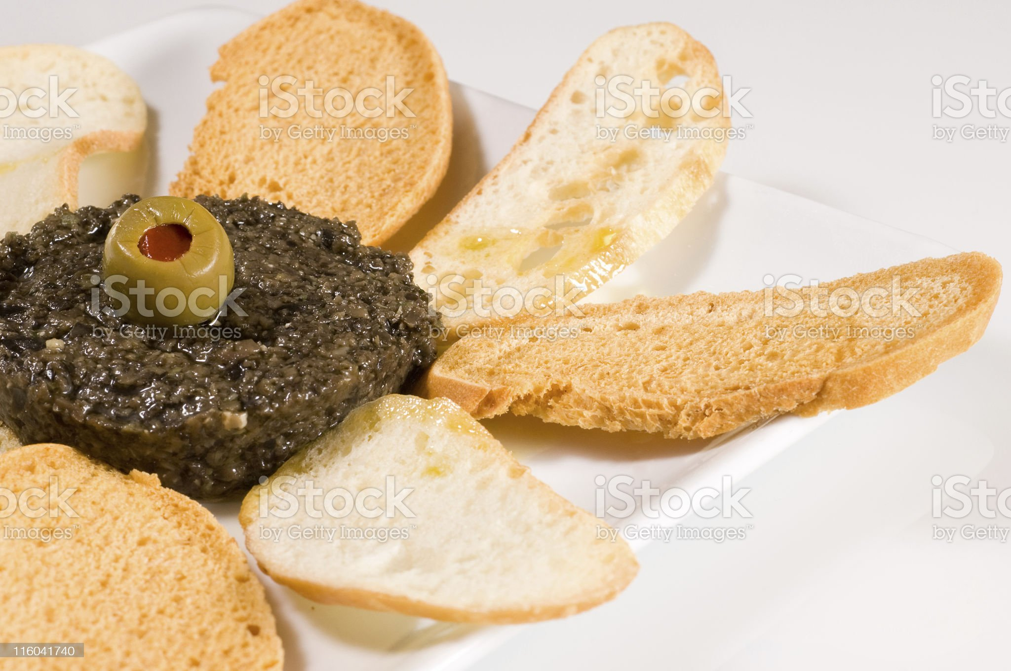 Olive tapenade (chopped olives) royalty-free stock photo