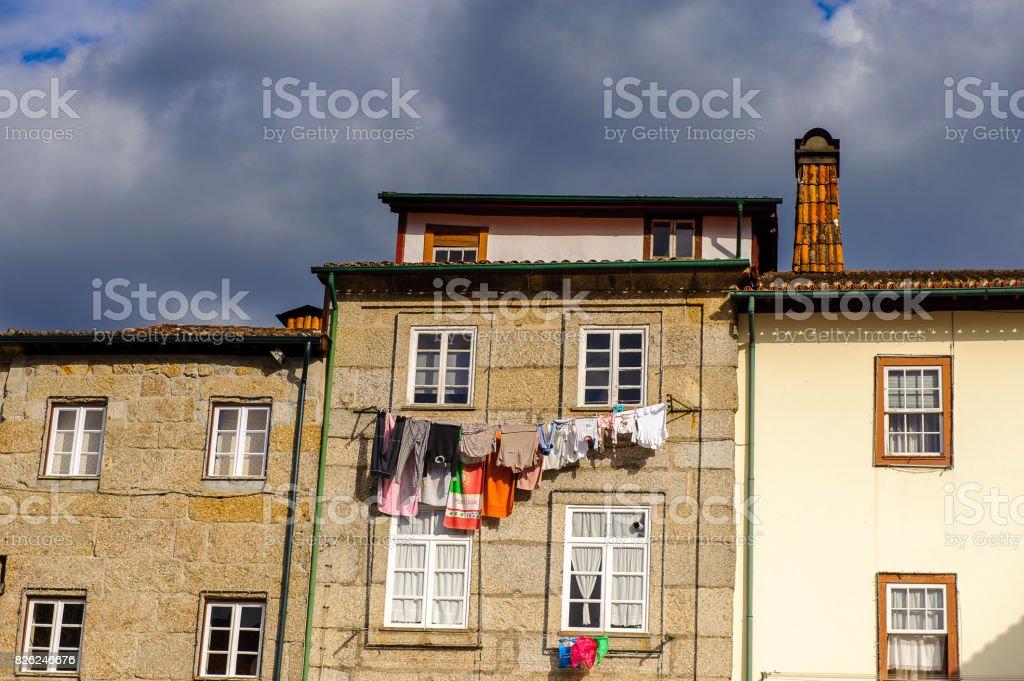 Oliveira Plaza of Historic Centre of Guimaraes, Portugal. UNESCO World Heritage stock photo