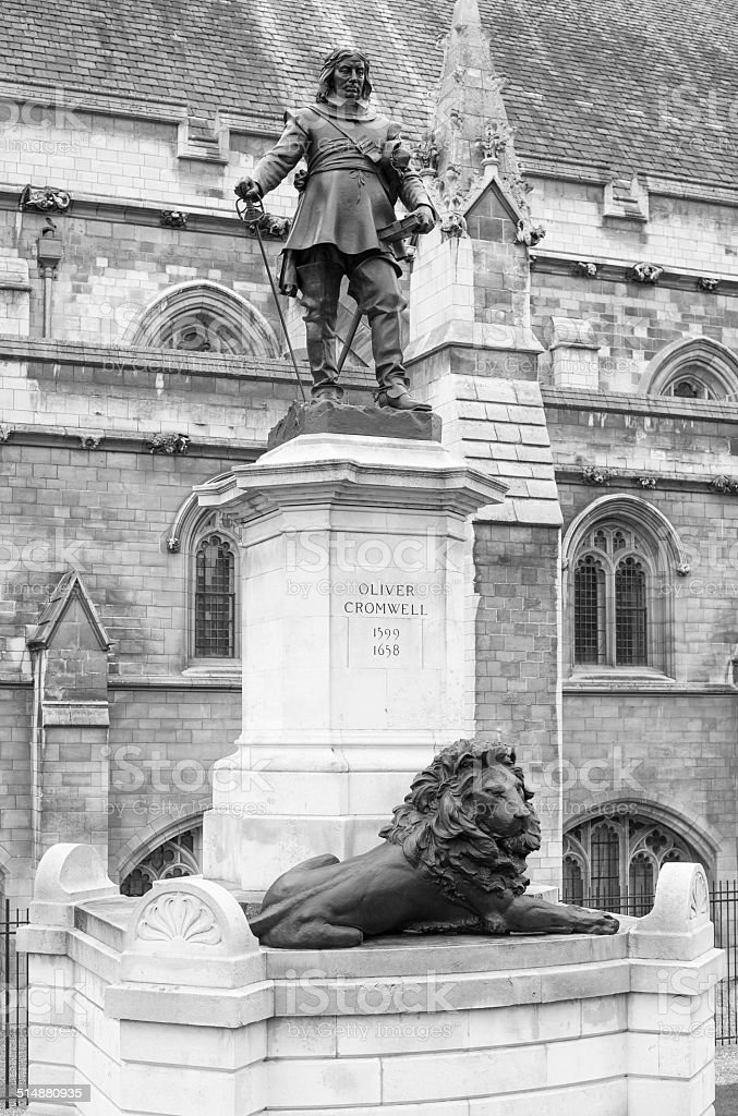 Oliver Cromwell (1599-1658) outside the Houses of Parliament stock photo