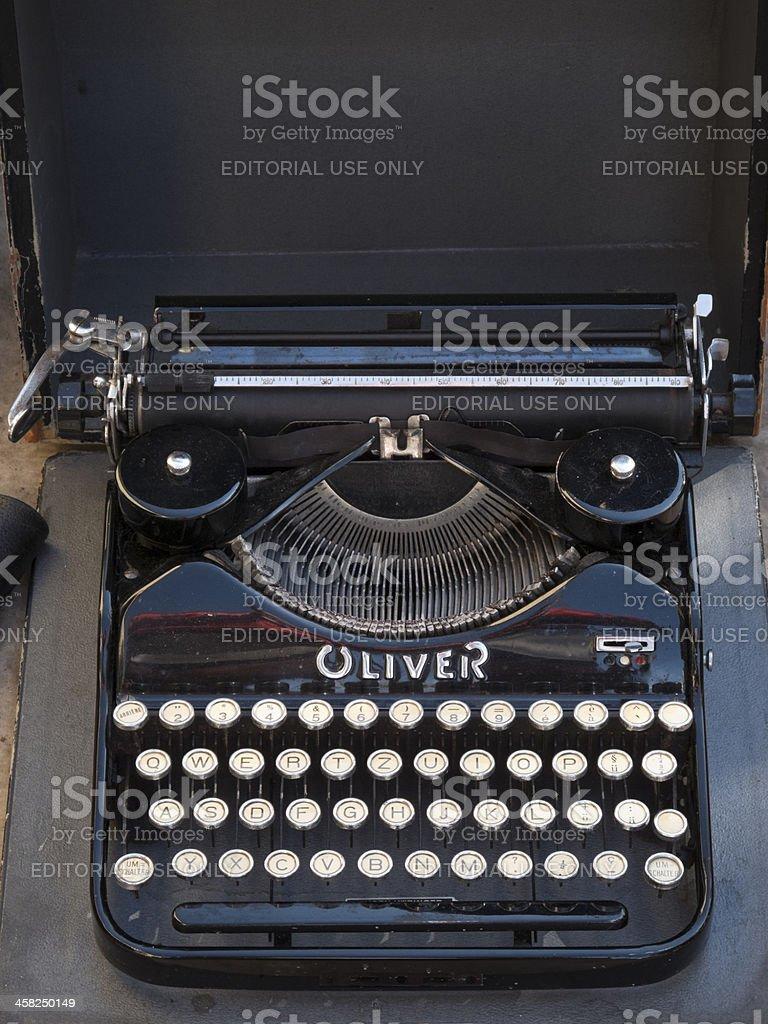 Oliver portable typewriter stock photo