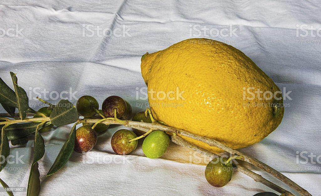 Olive e limone foto stock royalty-free