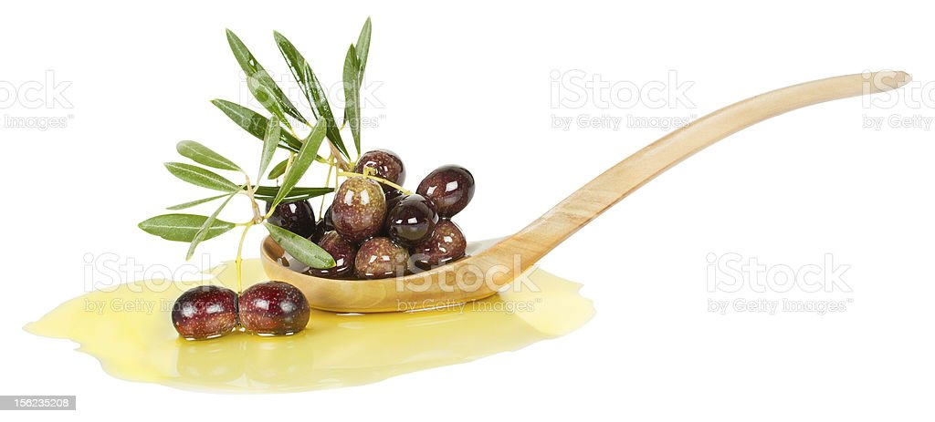 olives and  oive oil royalty-free stock photo