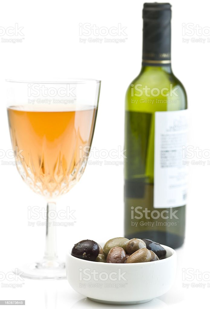 Olives and Wine stock photo