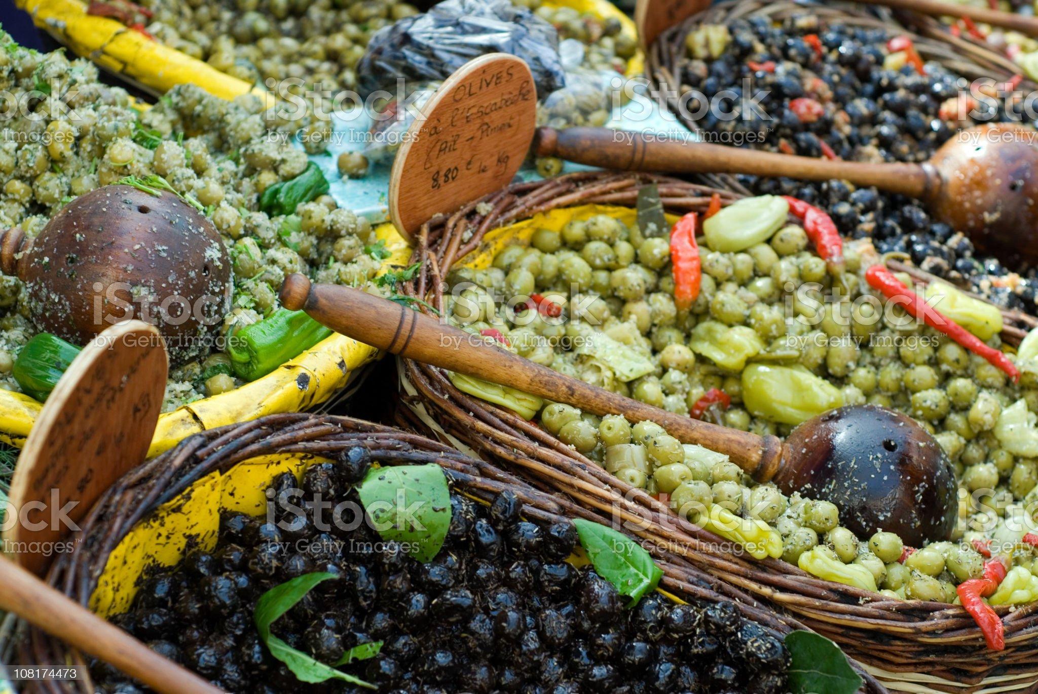 Olives at French Market royalty-free stock photo