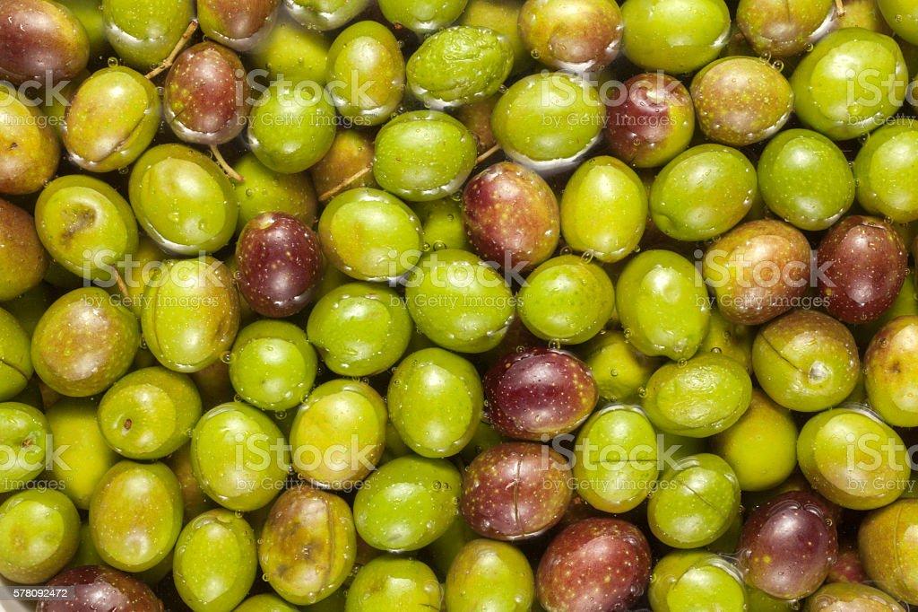 Olives background stock photo