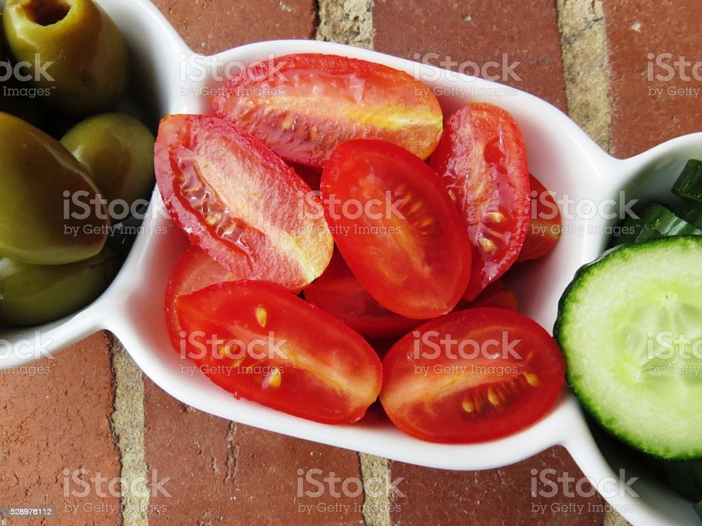 olives cherry cucumber royalty-free stock photo