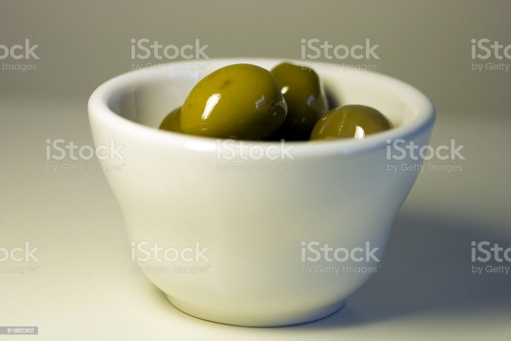 olives in a bowl stock photo