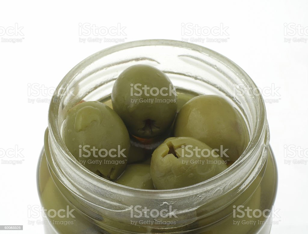 olives in jar royalty-free stock photo