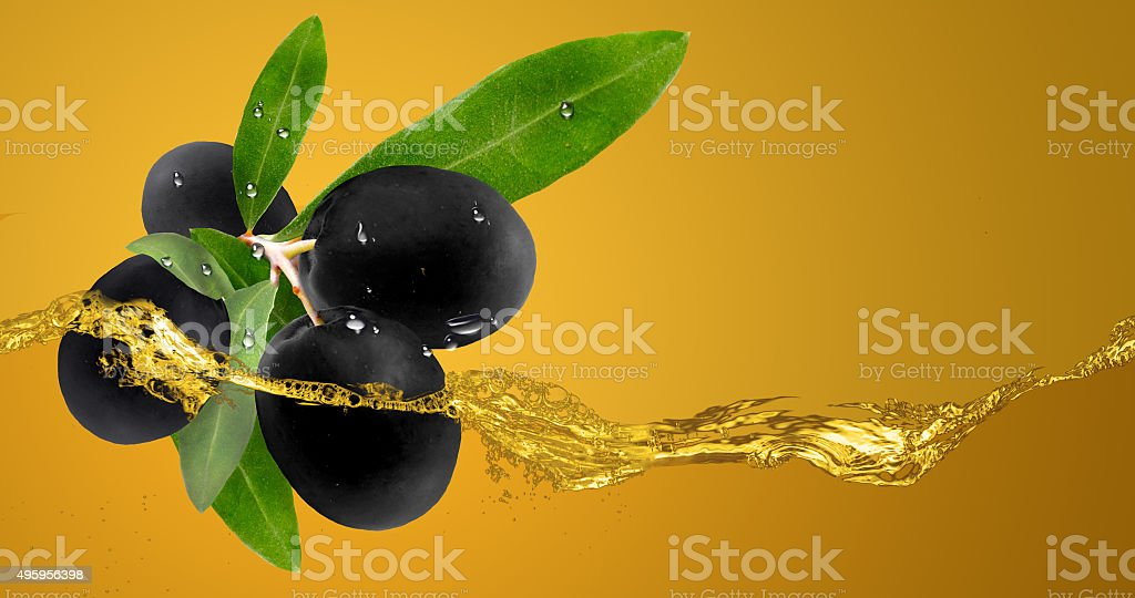 Olives in oil. stock photo
