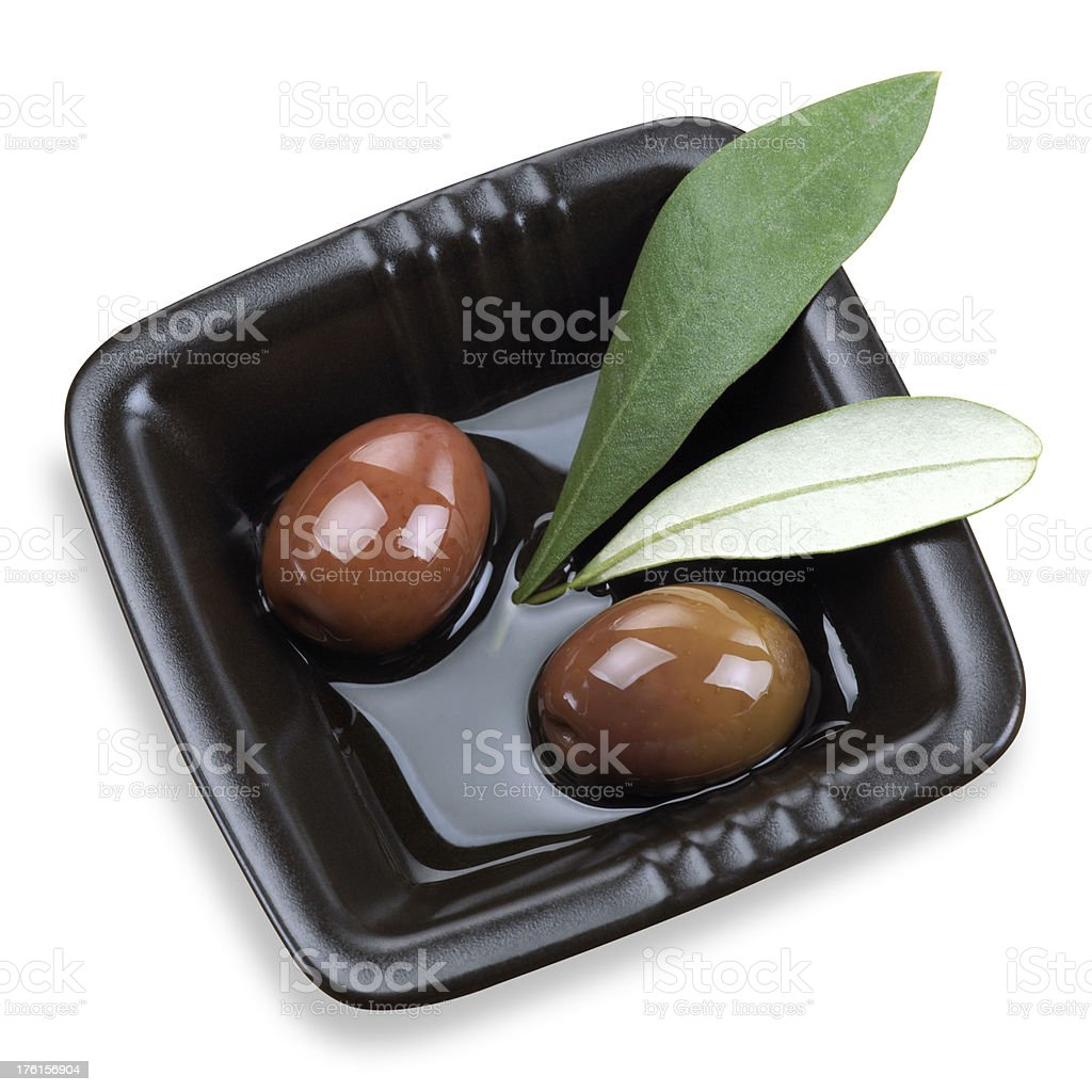 Olives in olive oil royalty-free stock photo