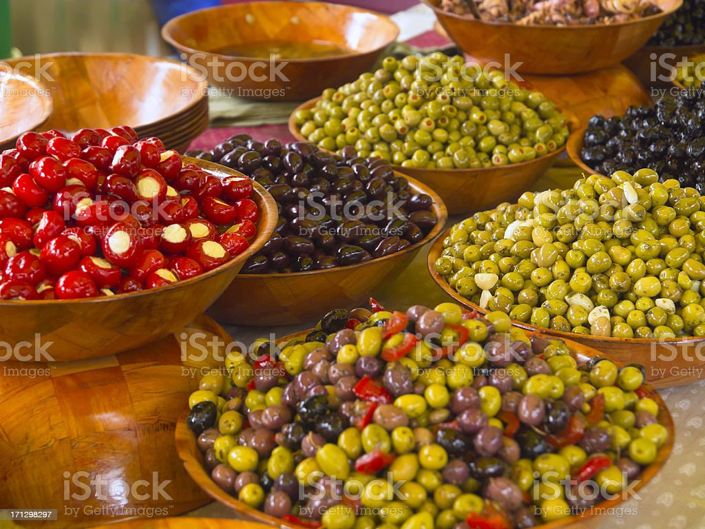 Olives in Provence stock photo