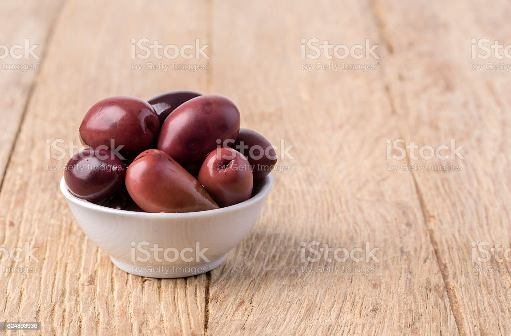 olives into in a  bowl stock photo