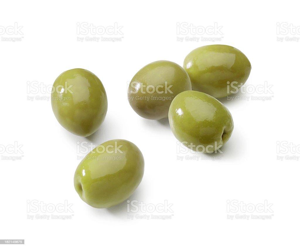 Olives isolated stock photo