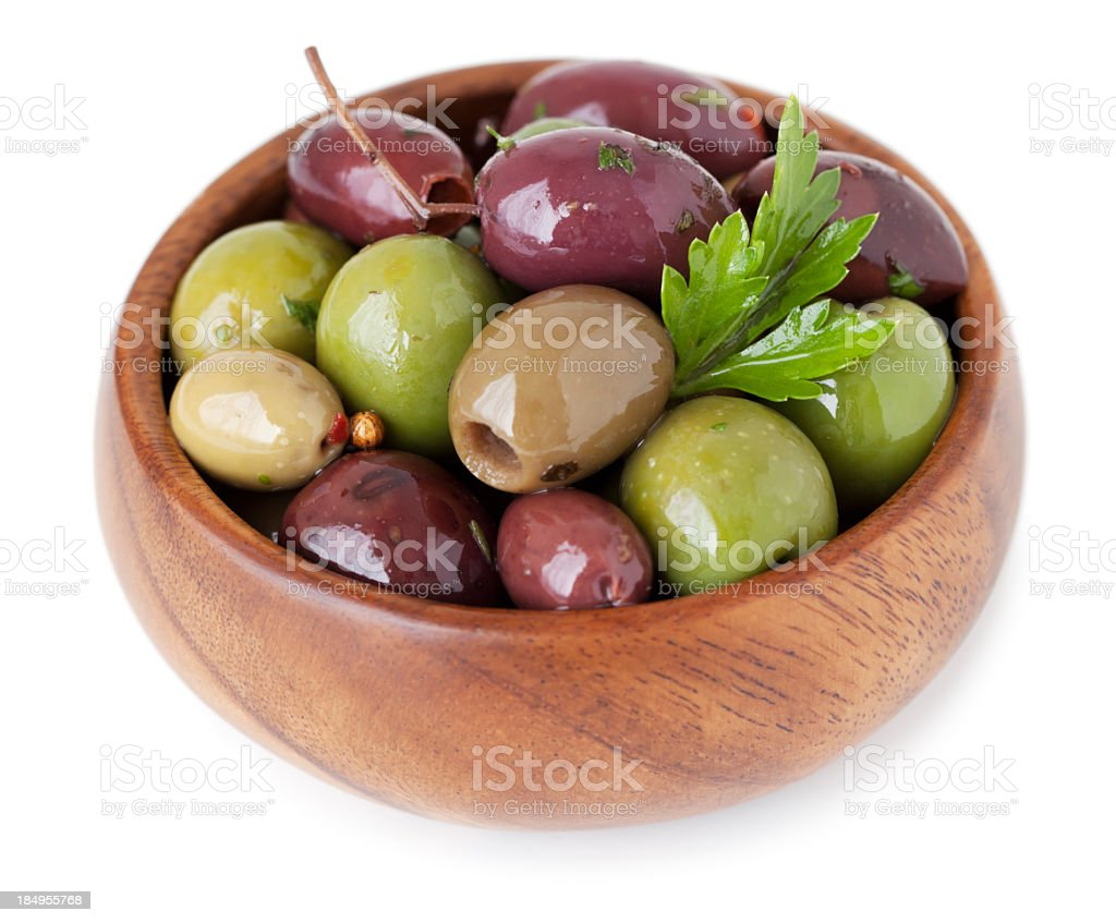 Olives isolated stock photo