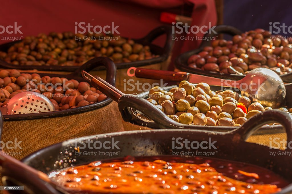 Olives of different flavors stock photo