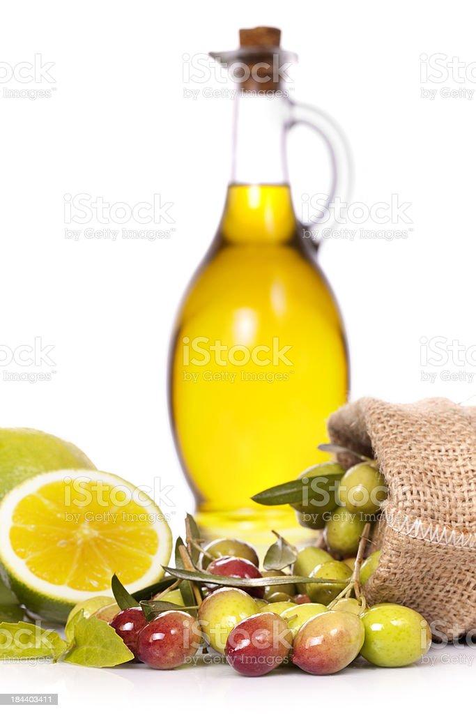 Olives on White royalty-free stock photo