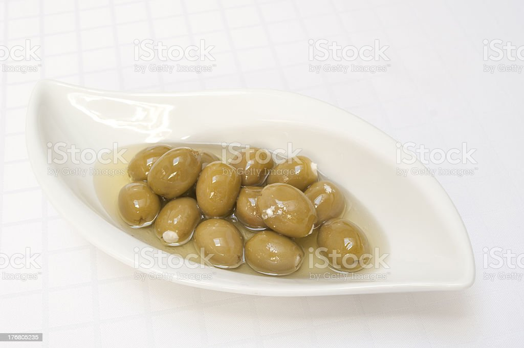 Olives stuffed with fetta cheese stock photo