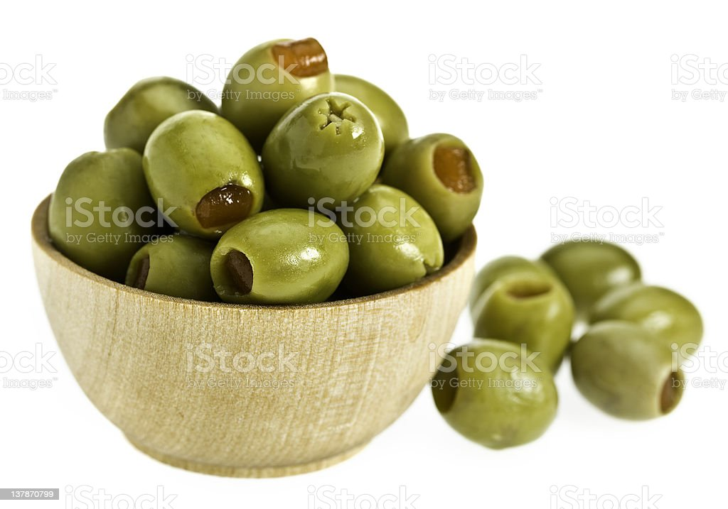 Olives Stuffed with pimentos royalty-free stock photo