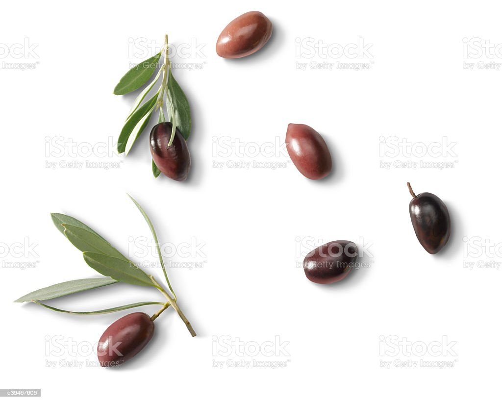 Olives with leafs stock photo