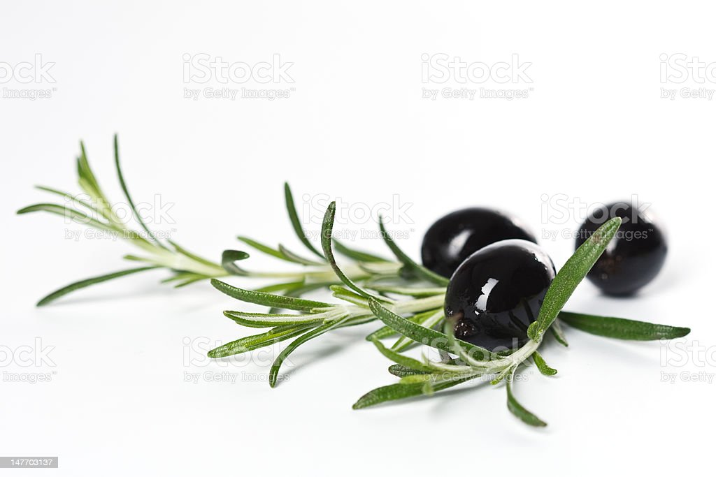 Olives with rosemary royalty-free stock photo