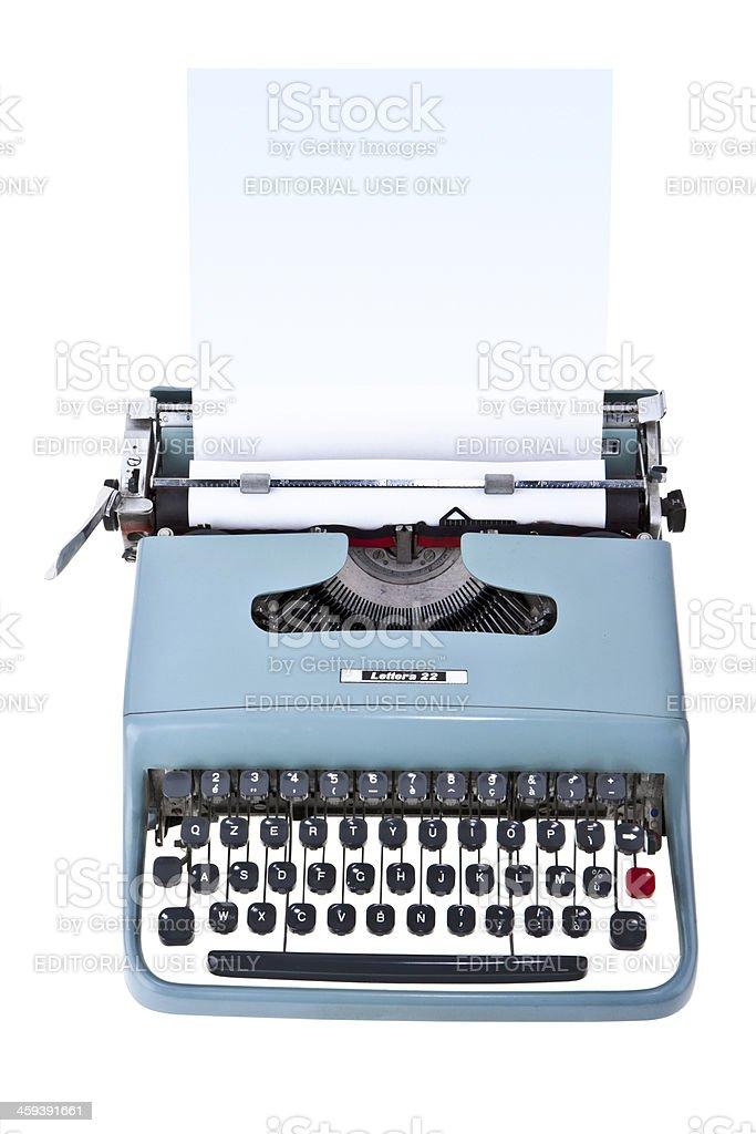 Olivetti Lettera 22 typewriter royalty-free stock photo