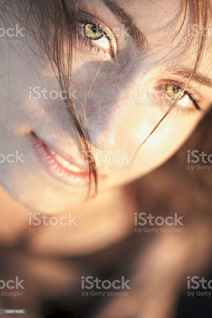 Olivia Wilde lookalike royalty-free stock photo