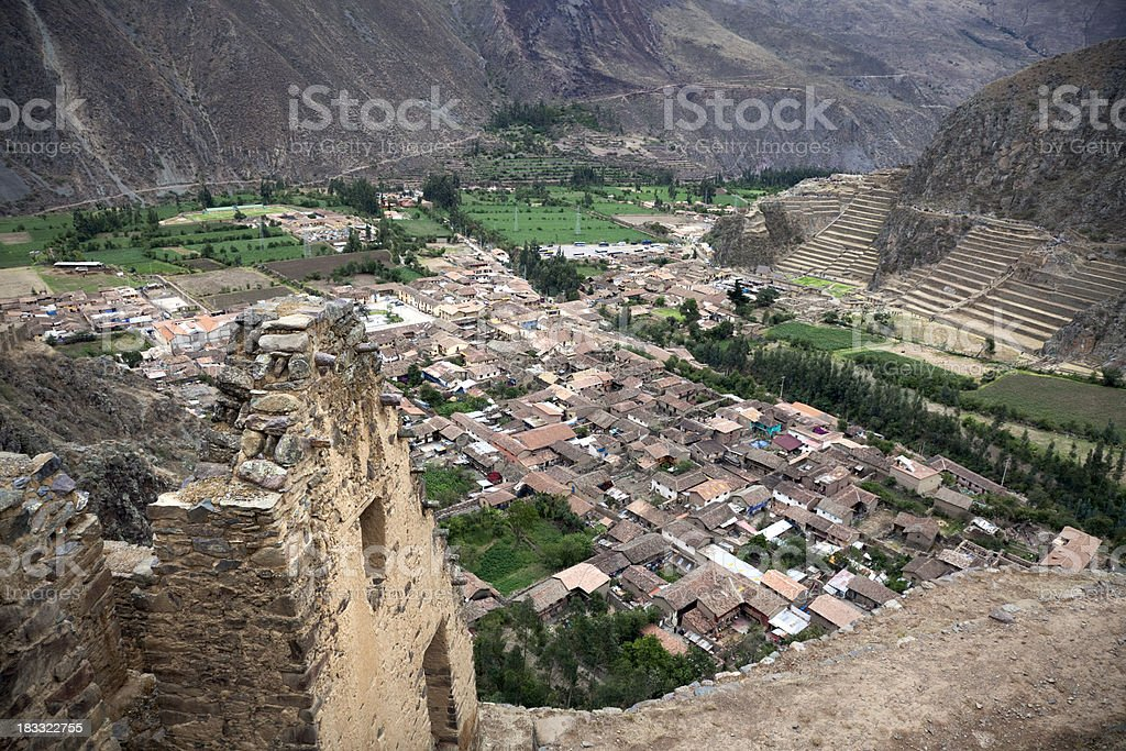 Ollantaytambo in The Sacred Valley, Peru stock photo