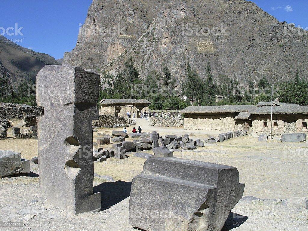 Ollantaytambo Ruins, Peru stock photo