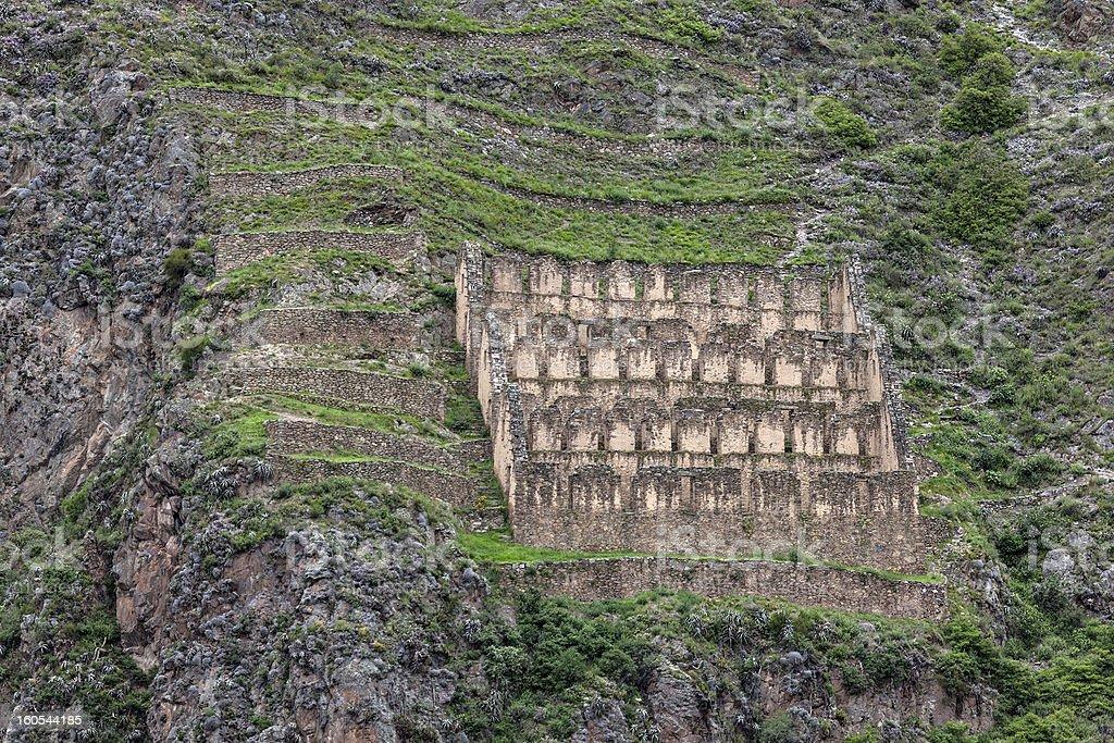 Ollantaytambo ruins royalty-free stock photo