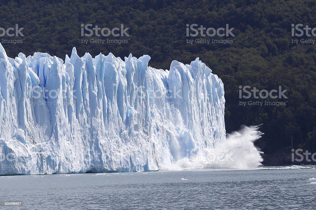 Сollapsing glacier royalty-free stock photo