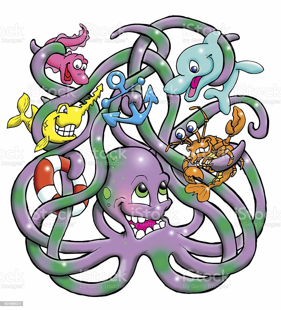 Olly Octopus tangle royalty-free stock photo