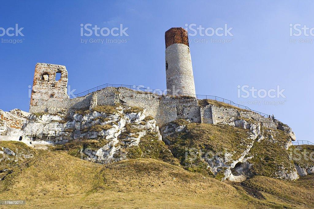 Olsztyn Castle - Poland. Medieval fortress in the Jura region stock photo