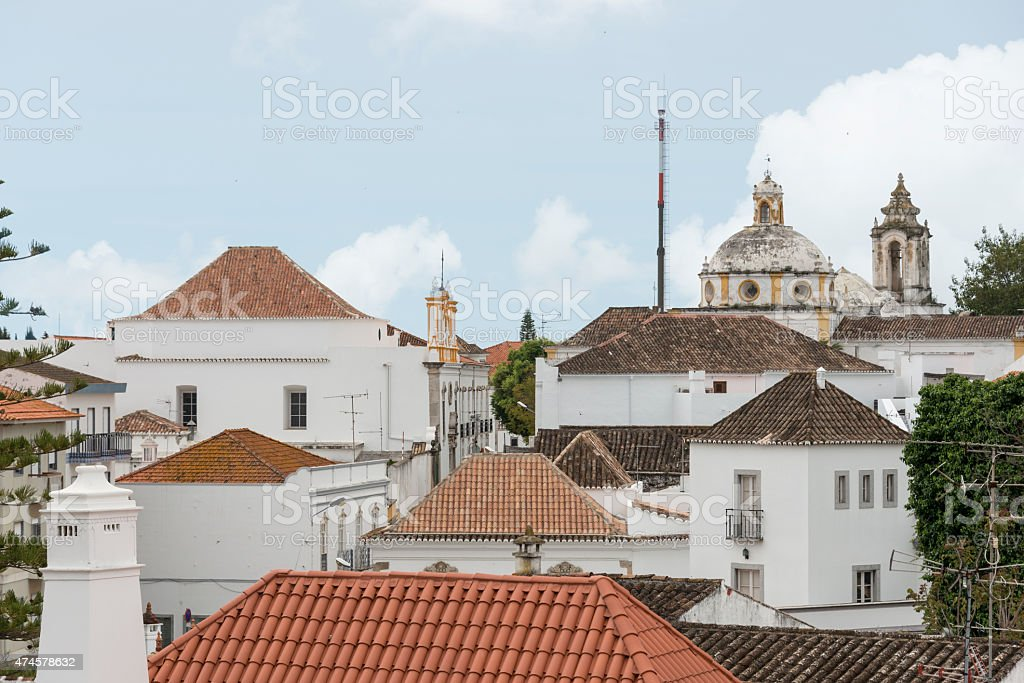 olt tavira town in Algarve Portygal stock photo