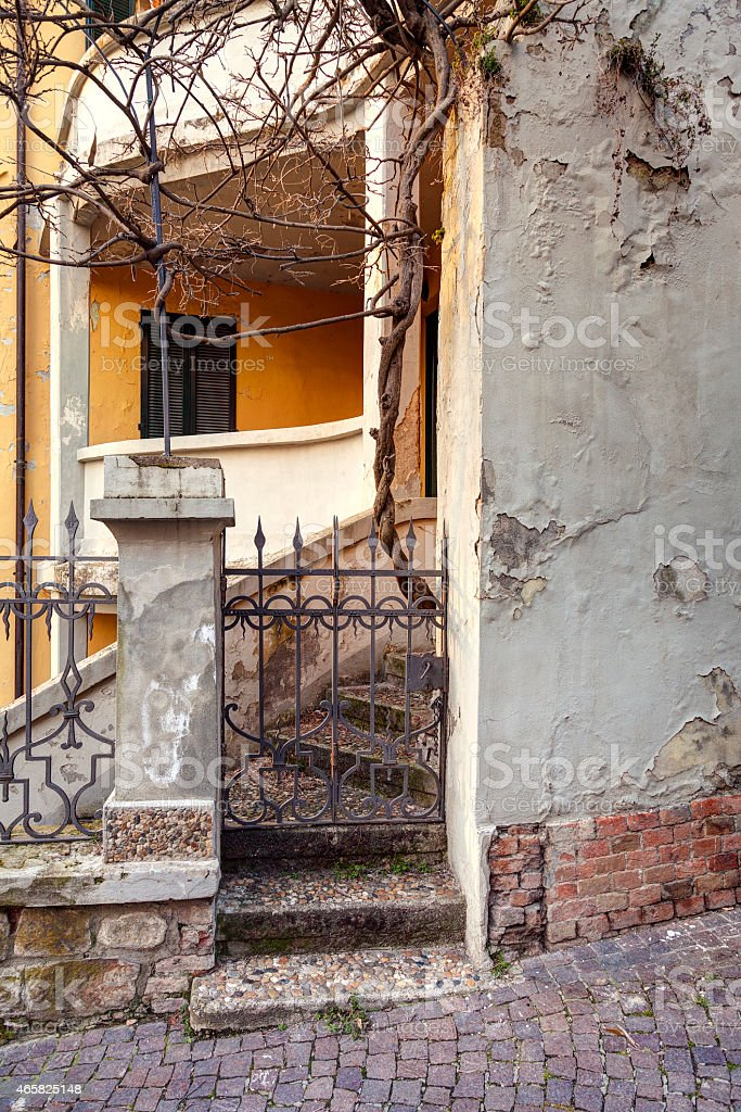 Oltrepo old village, detail. Color image stock photo
