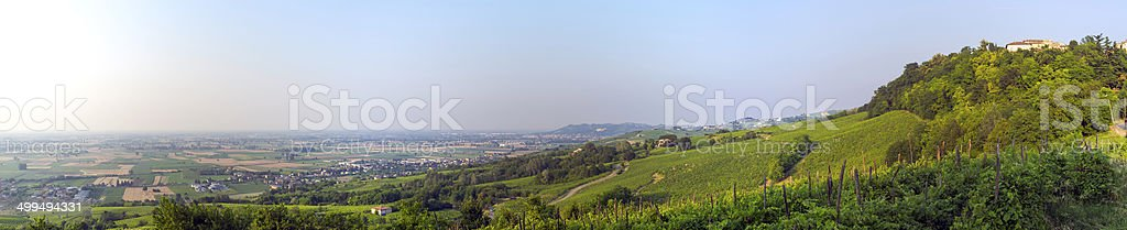 Oltrepo Pavese panorama. Color image stock photo