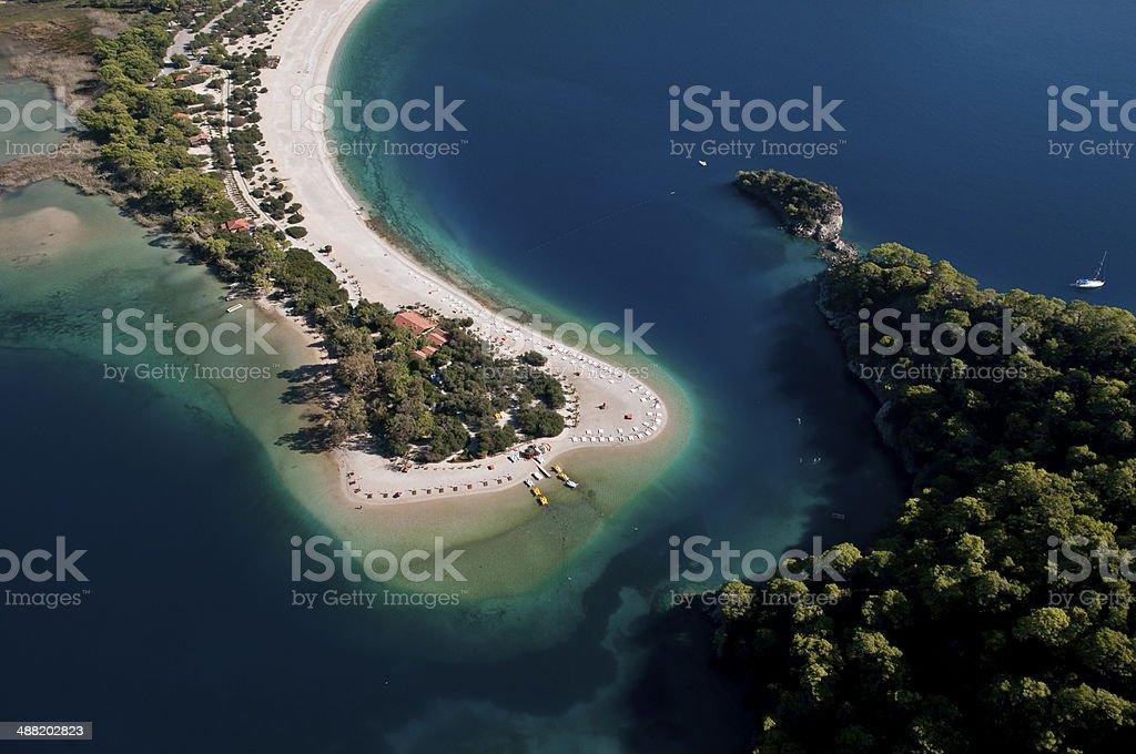 Oludeniz beach, Fethiye, Turkey stock photo