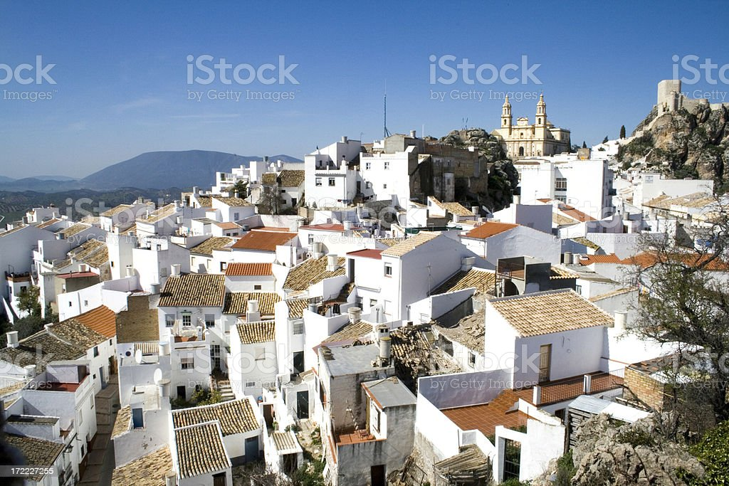 Olvera white village in Andalusia Spain stock photo
