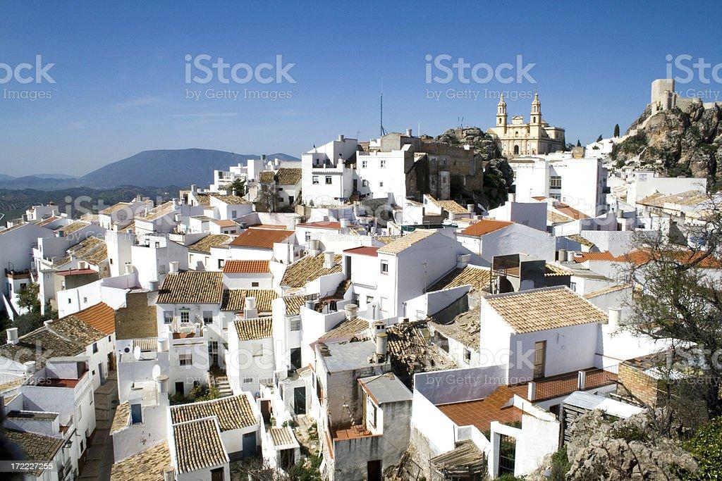 Olvera white village in Andalusia Spain stock photo