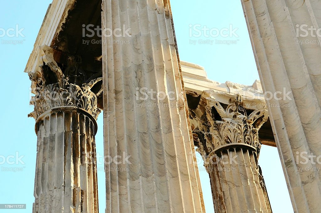 Olympian Zeus in Athens (Greece) royalty-free stock photo