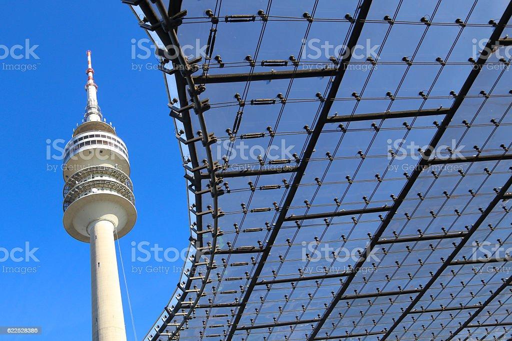 Olympiaturm Munich stock photo