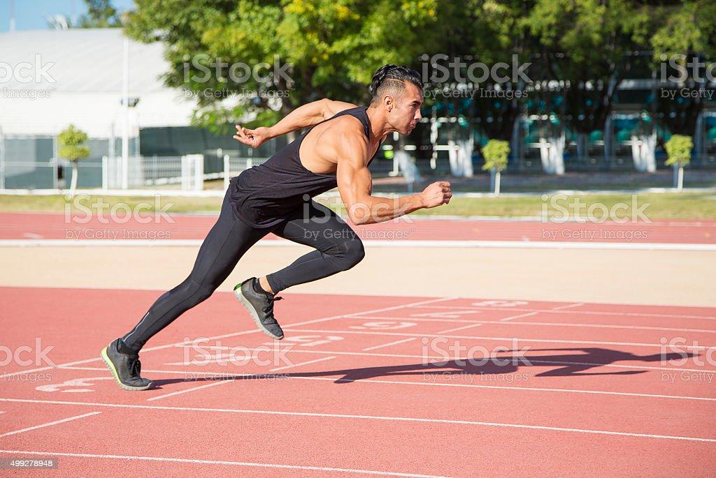 Olympic atlete stock photo