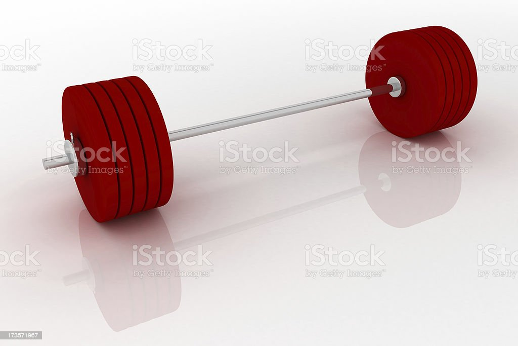 Olympic barbell royalty-free stock photo