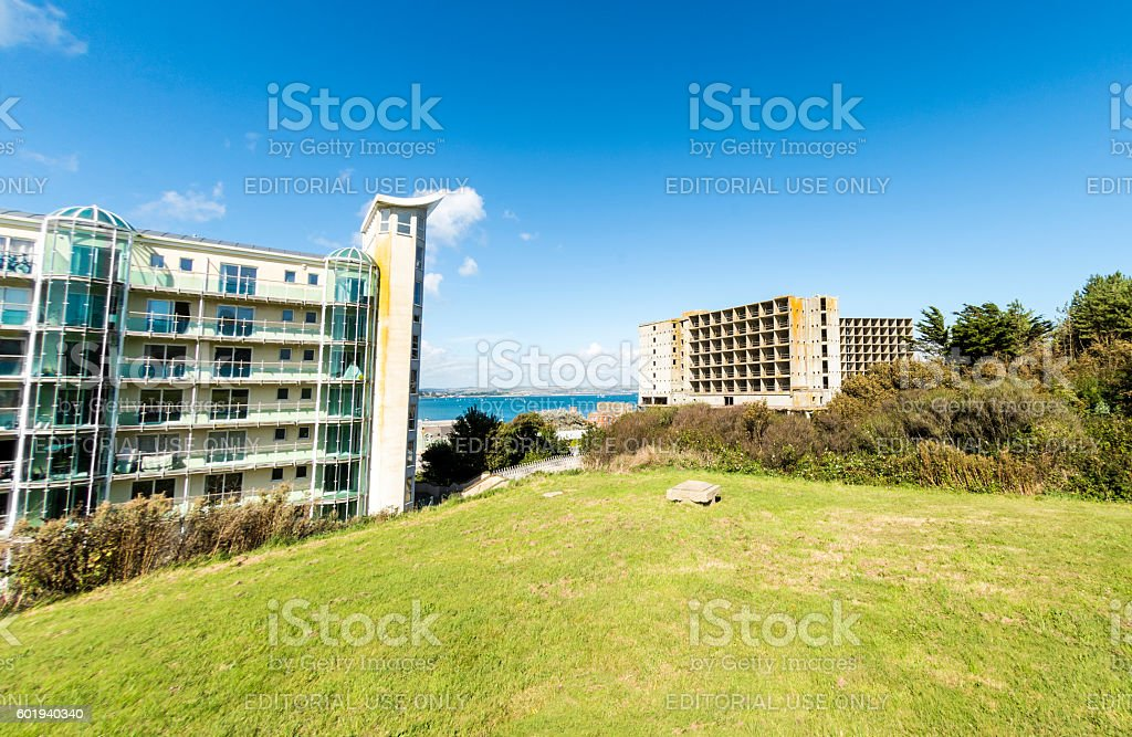 Olympic Block and Derelict Hospital - Portland stock photo