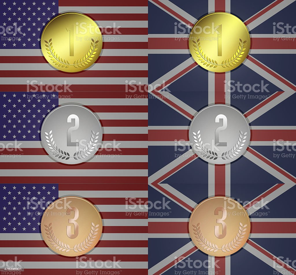 Olympic medal royalty-free stock photo