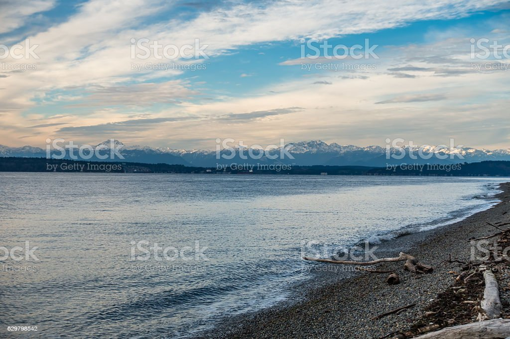 Olympic Mountains Landscape 4 stock photo