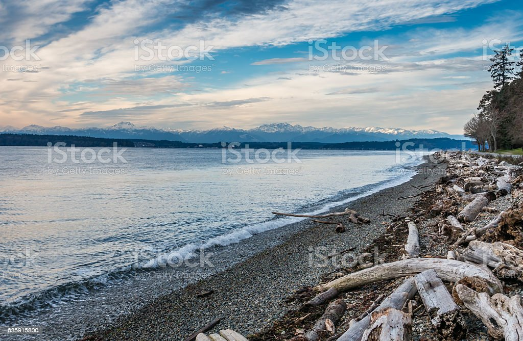 Olympic Mountains Landscape stock photo