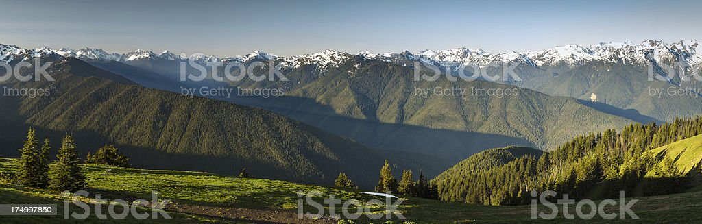 Olympic Mountains stock photo